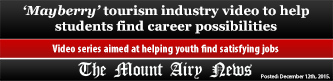 Mayberry tourism industry video to help students find career possibilities