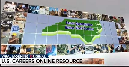 WRAL News story about US Careers Online.